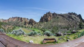 Smith Rocks Dolley Porch 547 stock video footage