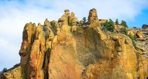 Smith Rocks State Park, een populair bergbeklimmingsgebied in centraal Oregon dichtbij Terrebonne royalty-vrije stock foto