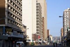 Smith Street en el domingo por la mañana, Durban Suráfrica Fotografía de archivo