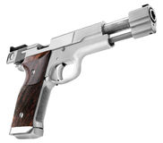Smith Wesson .45. Smith Wesson cal. 45 white background Stock Photo