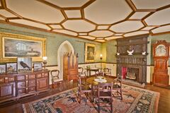 Smithills Hall Colonel Ainsworths Room Stock Photos