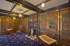 Smithills Hall Library Royalty Free Stock Photos