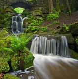 Smithills Hall Waterfall Stock Images