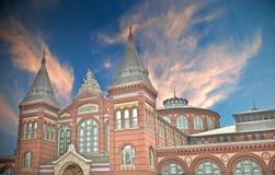 Smithsonian bij Zonsondergang Stock Fotografie