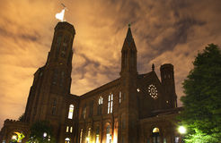 Smithsonian Castle Front Night Washington DC Royalty Free Stock Images