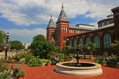 Smithsonian Castle, landmark in Washington DC, USA Royalty Free Stock Photos