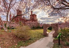 Smithsonian Castle and Moongate Stock Photo