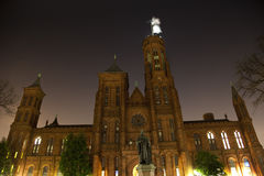 Smithsonian Castle Night Stars Washington DC Stock Images