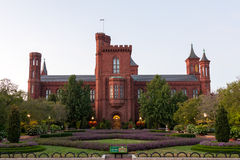 The Smithsonian Castle South Lawn in Washington DC Royalty Free Stock Image