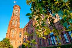 The Smithsonian Castle in Washington D.C. Royalty Free Stock Images