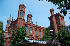 Smithsonian Castle in Washington DC Royalty Free Stock Photo