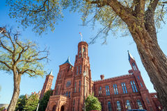 Smithsonian Castle in Washington DC Royalty Free Stock Photos