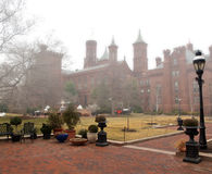 Smithsonian in fog Stock Images