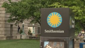 Smithsonian Institue Sign in Washington, D.C. stock video