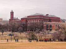 The Smithsonian Institute. View of  The Smithsonian Institute from the grounds of The National Monument, Washington, DC, in late winter 2015 Royalty Free Stock Image