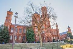 Smithsonian Institution byggnad i Washington DC USA royaltyfria bilder
