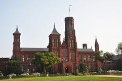 Smithsonian Kasteel in Washington DC Royalty-vrije Stock Foto's