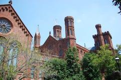 Smithsonian Kasteel in Washington DC Royalty-vrije Stock Foto