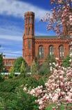 Smithsonian-Schloss, Grenzstein des Washington DC lizenzfreie stockfotos