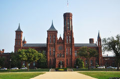 Smithsonian-Schloss im Washington DC lizenzfreies stockfoto