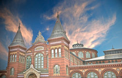 Smithsonian at Sunset. Historic Smithsonian Castle at Sunset Stock Photography