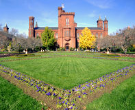 Smithsonian Washington DC van het Kasteel Royalty-vrije Stock Foto