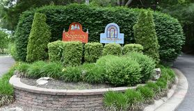 Smithtown long island typical community signs. There is typical townhouses community to all age association of homeowners signs in Smithtown , Long Island , New stock photography