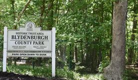 Smithtown new york state blydenburgh park sign royalty free stock photography