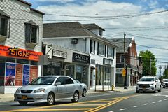 Smithtown new york state city street usa royalty free stock images