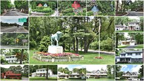 Smithtown new york state usa real estate. There is Town of Smithtown ,which located in Suffolk County of New York in Long Island ,USA, about one hour 30minutes stock photo
