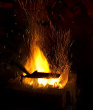 Smithy fire sparks Royalty Free Stock Images