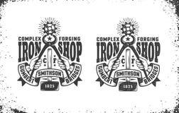 Smithy, workshop logo Royalty Free Stock Images