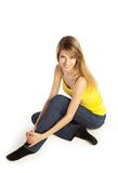 Smling young blond woman Royalty Free Stock Photos