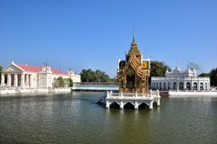 Smällen Pa-I Aisawan Thipya-Konst paviljong Royaltyfri Bild