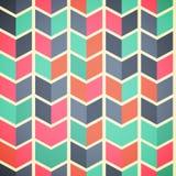 Sömlös abstrakt färgrik bakgrund med pilar i retro färg Royaltyfri Bild