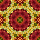 Sömlös abstrakt stam- modell (vektorn) Royaltyfri Bild