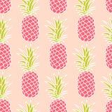 Sömlös ananasmodell Royaltyfria Bilder