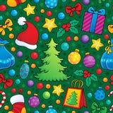 Sömlös bakgrund 2 för jul Arkivbild