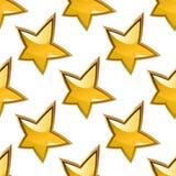 Sömlös bakgrundsmodell av glansiga guld- stjärnor Fotografering för Bildbyråer