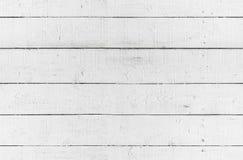 Sömlös bakgrundstextur, vit trävägg Arkivfoton