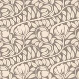 Sömlös beige blom- modell. Arkivbild