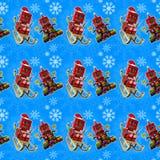 Sömlös blå julbakgrund Royaltyfria Foton