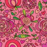 Sömlös blommaprickfluga någonstans Royaltyfri Foto