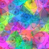Sömlös cykelbakgrund Arkivfoton