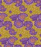 Sömlös design för krysantemumblomma Royaltyfria Bilder