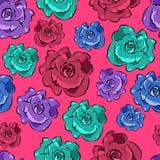 Sömlös färgrik blom- modell Royaltyfria Foton