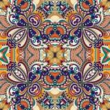 Sömlös geometritappningmodell, etnisk stil Royaltyfria Bilder