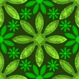 Sömlös grön blom- Grunge Arkivbild