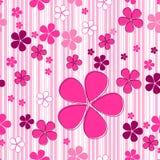 Sömlös gullig blom- bakgrund Arkivfoton