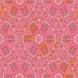 Sömlös kalejdoskopisk mosaikbakgrund i rosa färger Royaltyfri Foto